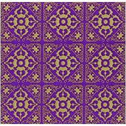 Superbe serviette de table Paviot violet-Or