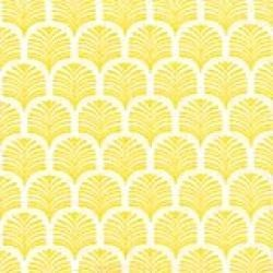 Serviette de table 40x40 cm motif palmette de couleur jaune