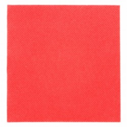Serviette jetable biodégradable 33x33 cm rouge par 50